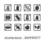 set of square ingredient...   Shutterstock .eps vector #304990577