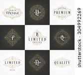luxury calligraphic design... | Shutterstock .eps vector #304992269