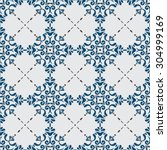 traditional seamless pattern... | Shutterstock .eps vector #304999169
