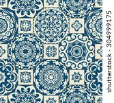 seamless patchwork pattern from ... | Shutterstock .eps vector #304999175