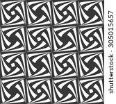 monochrome seamless pattern... | Shutterstock .eps vector #305015657
