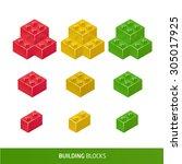 isometric plastic  building... | Shutterstock . vector #305017925
