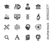 science and school icons.... | Shutterstock .eps vector #305022377