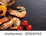 Beer Mug And Grilled Shrimps O...