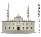 the new mosque  pronounced yeni ... | Shutterstock .eps vector #305033435