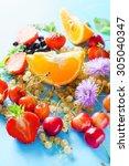 fresh fruits | Shutterstock . vector #305040347