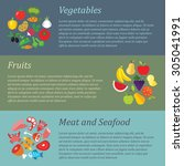 set of flat design concepts of... | Shutterstock .eps vector #305041991