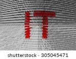 information technology is... | Shutterstock . vector #305045471