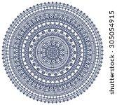 mandala. vintage decorative... | Shutterstock .eps vector #305054915