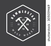 vintage carpentry and mechanic... | Shutterstock .eps vector #305059469