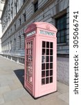 Pink Phone Booth In London