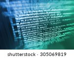 software developer programming... | Shutterstock . vector #305069819