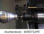 industrial metal work bore... | Shutterstock . vector #305071295
