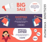 big sale. shopping. special...