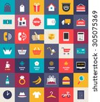 set of flat design business and ...
