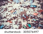 Stock photo pieces of a puzzle 305076497