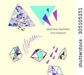 geometric elements. vector...   Shutterstock .eps vector #305105351
