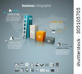 vector illustration of business ... | Shutterstock .eps vector #305105705