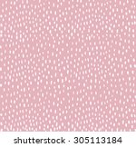hand drawn dots pattern ... | Shutterstock .eps vector #305113184