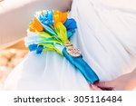 beautiful wedding bouquet  ... | Shutterstock . vector #305116484