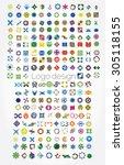 company logos mega collection ...   Shutterstock .eps vector #305118155