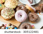 sweet food  junk food and... | Shutterstock . vector #305122481