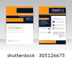 vector design for cover report... | Shutterstock .eps vector #305126675