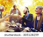 friends friendship outdoor... | Shutterstock . vector #305128259