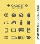 vector flat icon set   gadget  | Shutterstock .eps vector #305135831