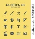 vector flat icon set   design  | Shutterstock .eps vector #305135885