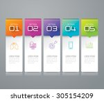 infographic design template can ... | Shutterstock .eps vector #305154209