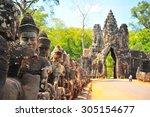 Stone Gate Of Angkor Thom In...