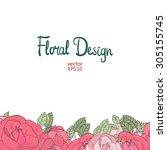 Vector Floral  Frame. Hand...