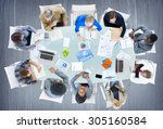 meeting communication planning... | Shutterstock . vector #305160584