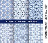 Ethnic Style Pattern Set  ...