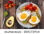 Healthy Avocado  Egg Open...