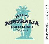 surfing theme australia | Shutterstock .eps vector #305173715