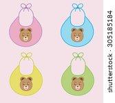 set vector bibs of different... | Shutterstock .eps vector #305185184