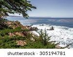 san simeon bay  pier   w r... | Shutterstock . vector #305194781