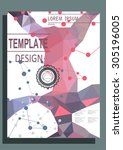 abstract vector modern flyer  ... | Shutterstock .eps vector #305196005