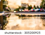 sun after the rain in the city  ... | Shutterstock . vector #305200925