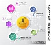 vector infographics of business.... | Shutterstock .eps vector #305202491