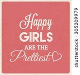 retro typographic poster design ... | Shutterstock .eps vector #305209979