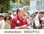 new york city   august 9 2015 ...   Shutterstock . vector #305219711