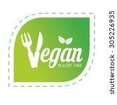 vegan food design  vector... | Shutterstock .eps vector #305226935