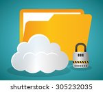 hosting digital design  vector... | Shutterstock .eps vector #305232035