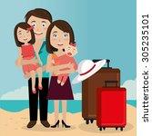 summer digital design  vector... | Shutterstock .eps vector #305235101