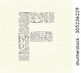 vector mono line style... | Shutterstock .eps vector #305236229