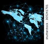 best internet concept of global ... | Shutterstock . vector #305241701