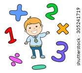 cartoon style math learning... | Shutterstock .eps vector #305241719